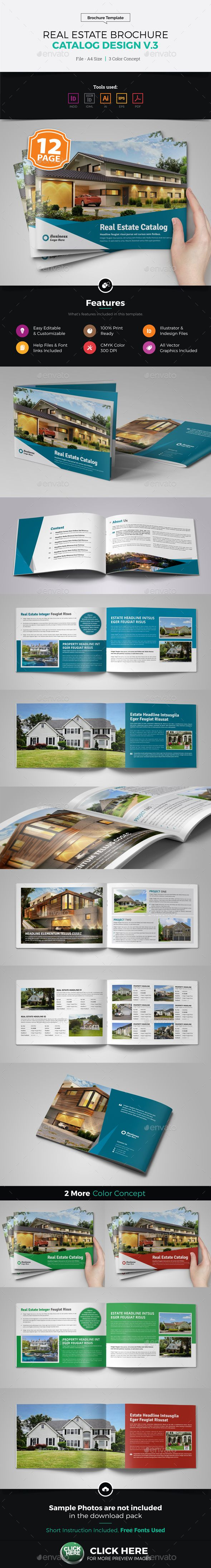 Real Estate Agency Brochure Catalog v3 — Vector EPS #land brochure #Land Business • Available here → https://graphicriver.net/item/property-sale-real-estate-brochure-catalog-v3/8187610?ref=pxcr