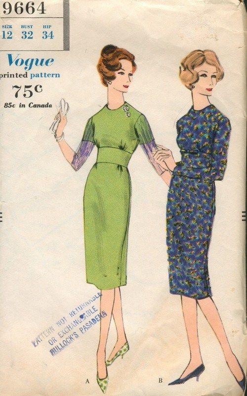 Naaipatroon 1958 - Vogue Link naar vintage naaipatronen
