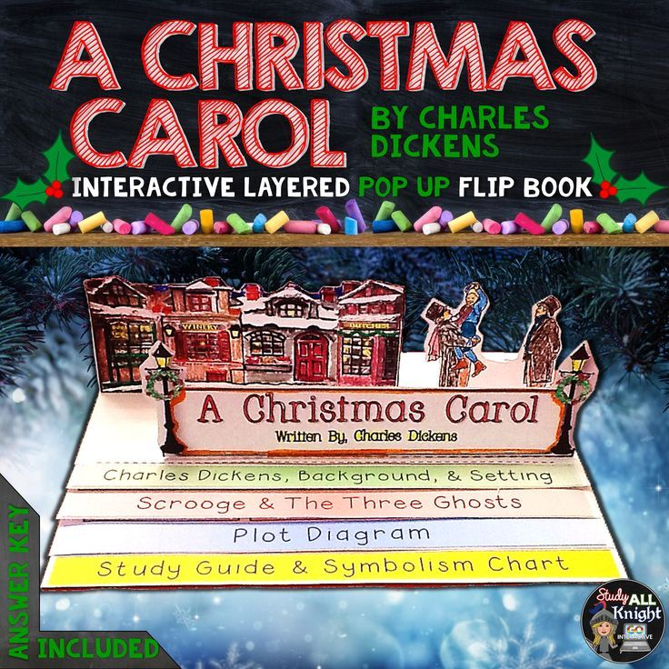 A CHRISTMAS CAROL READING, WRITING, POP UP FLIP BOOK READING LITERATURE GUIDE ($)