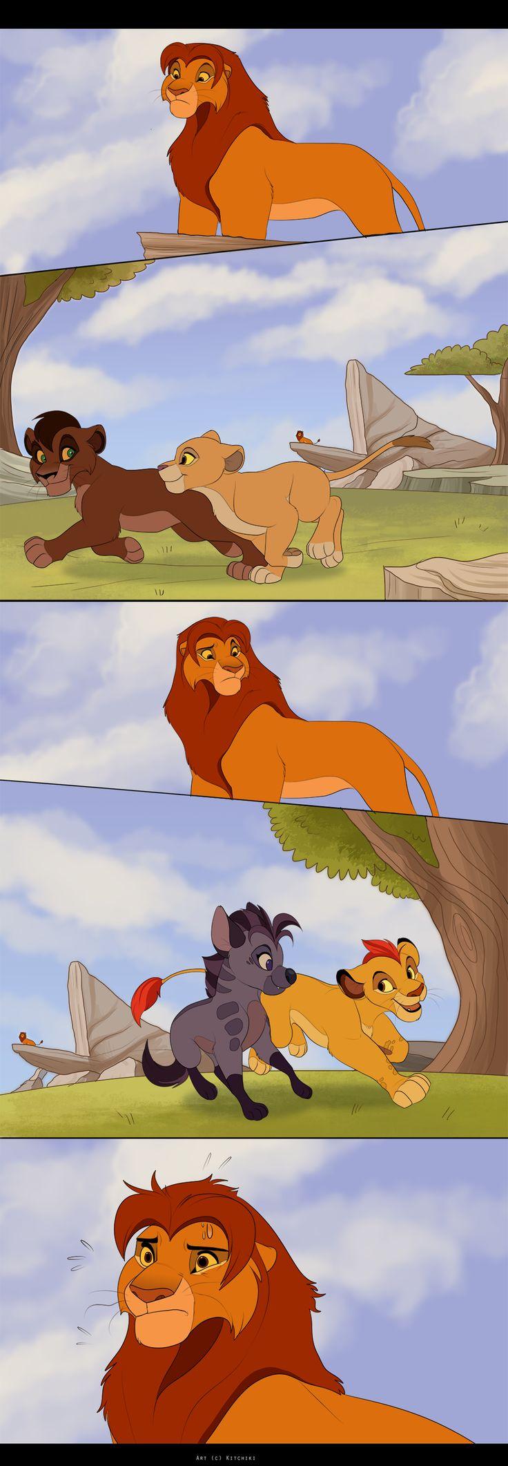 Simba's Dilemma by Kitchiki.deviantart.com on @DeviantArt