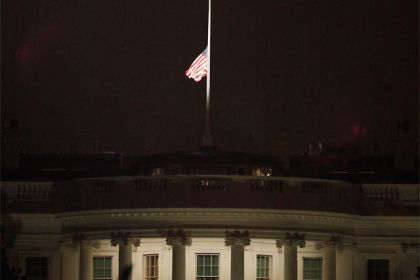 TIL the reason flags are flown at half-mast when a person dies is to make room for the invisible flag of death