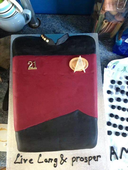21st Star Trek cake