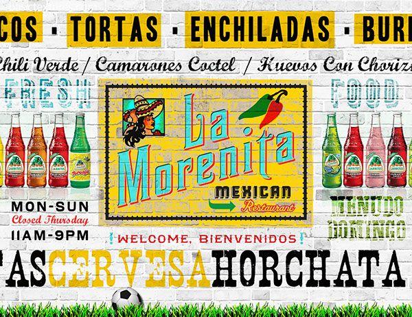 La Morenita, Mexican Restaurant on Behance