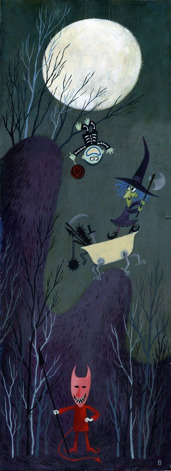 Halloween illustration by brigette b.  Cute characters!