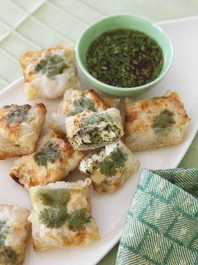 Crisp Chicken & Asian Pesto Rice Paper Rolls