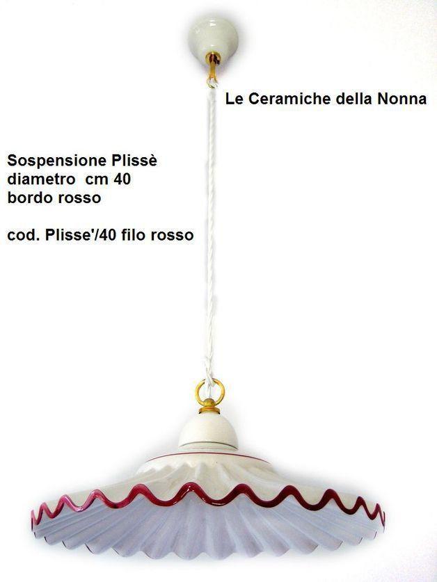 Sospensione in ceramica plissettata cm 40, by Lucicastiglione, 73,00 € su misshobby.com