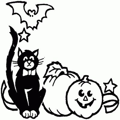 October Border Clipart Black And White