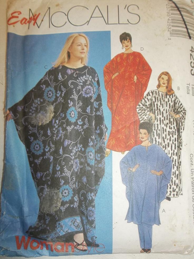 New Uncut Pattern Womens Caftan Knit And Sew Pinterest