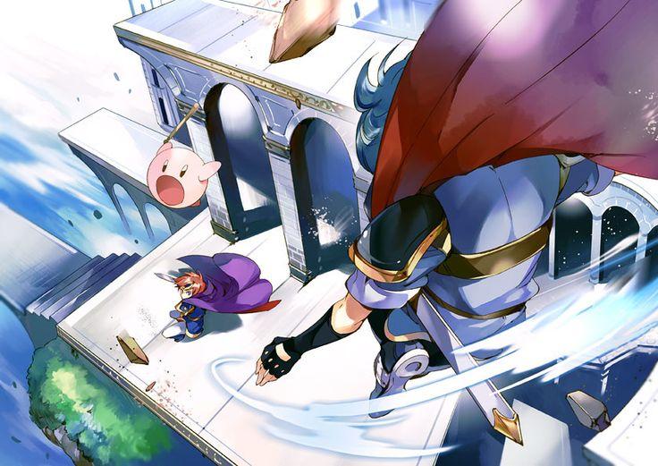 Super Smash Bros.- Kirby, Marth and Roy