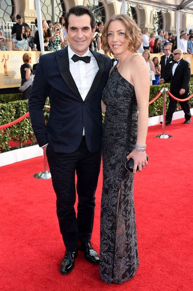 Actor Ty Burrell and his wife Holly Anne Brown attend the 20th Annual Screen Actors Guild Awards at The Shrine Auditorium on January 18, 201...