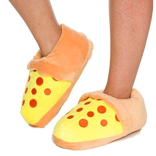Silver Lilly Novelty Slippers - Plush Pizza Slice Food Slippers by (Brown, XL). PIZZA IS LIFE - Obsessed with pizza? Love that mystical blend of cheddar, batter, and sauce? The flavorful pepperoni pizza cut plan on these shoes will make all your kindred pizza-darlings desirous, and is an awesome method to finish off, best offer
