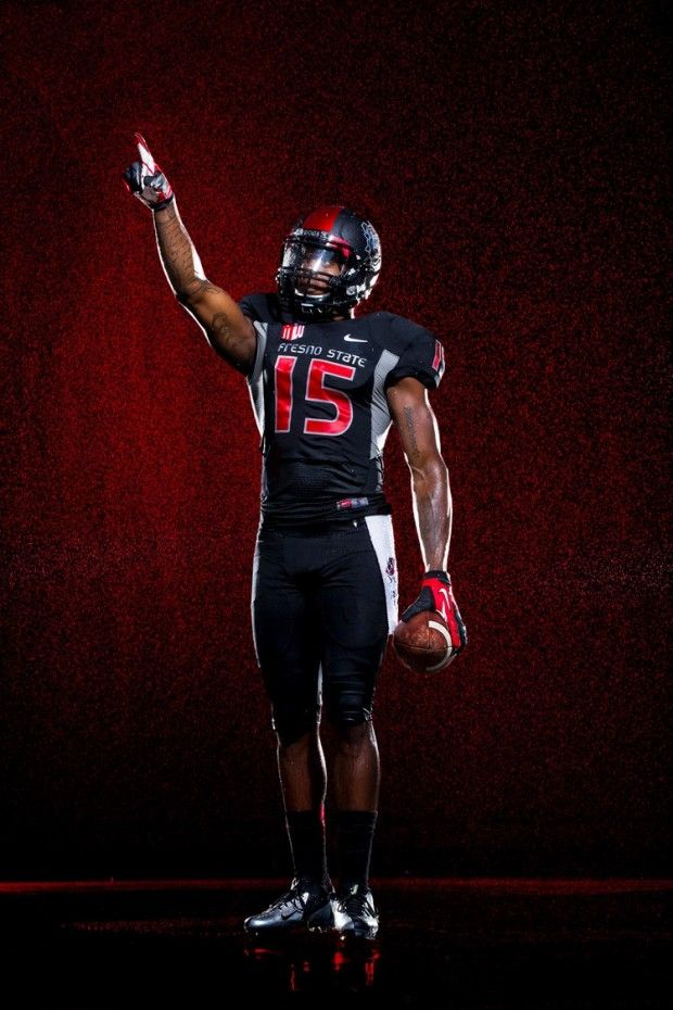 2013 Fresno State Bulldogs Nike Blackout Football Uniforms
