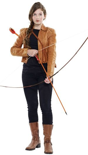 Katniss Hunger Games, Halloween #DIY Costume #Savers #ValueVillage