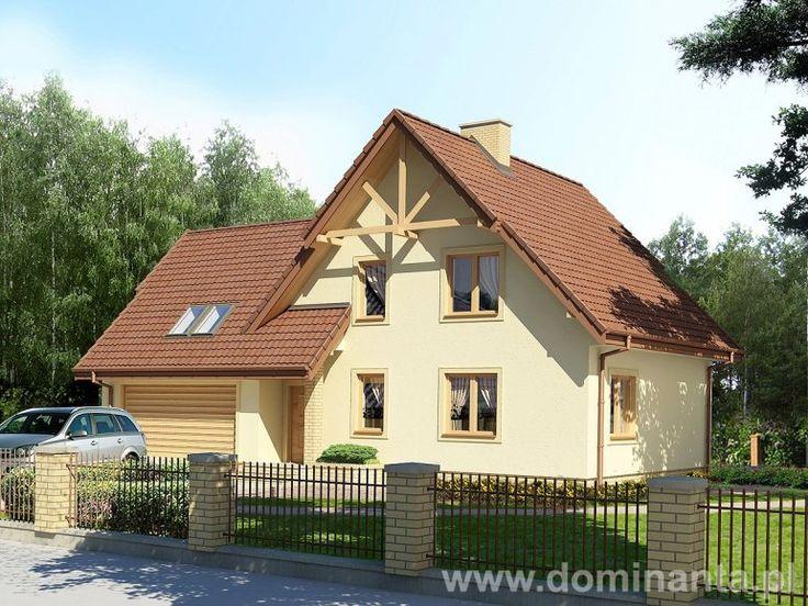 Projekt Wezyr, klasyczny, piętrowy dom o ciekawym rozkładzie pomieszczeń, w wersji z jednostanowiskowym garażem. Więcej informacji na temat projektu można znaleźć na stronie http://www.dominanta.pl/