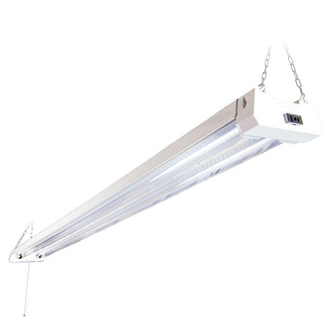 4 ft. Utility LED Shop Light Fixture, Linkable, Frosted Lens 5000K Daylight 4400 Lumens.