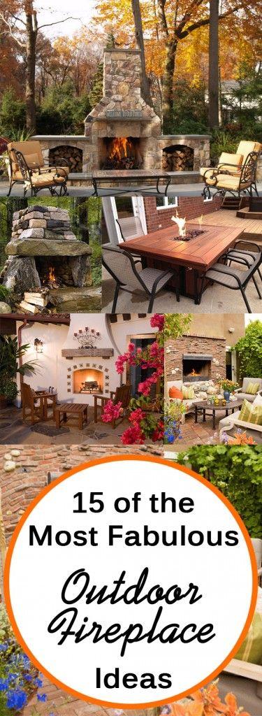 15 of the Most Fabulous Outdoor Fireplace Ideas. Gardening, home garden, garden hacks, garden tips and tricks, growing plants, plants, vegetable gardening, planting fruit, flower garden, outdoor living