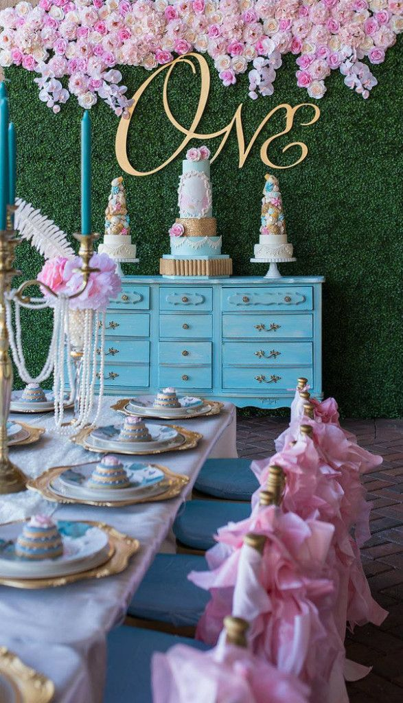 Fit for a Queen. Marie Antoinette 1st Birthday Party.