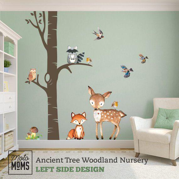 Woodland Trees Nursery Wall Decor 1 Ancient Tree Watercolor