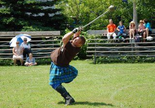 Lancer de marteau, Hammer throw, Highland Games, Ecosse