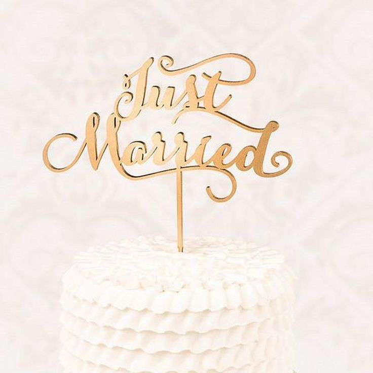 """""""Just Married"""" Rustic Wedding Cake topper Engagement Wooden cake topper - Wood letters Cake Decorations Gifts Favors Supplies"""