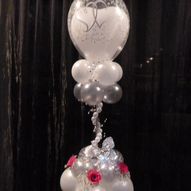 Balloon wedding centerpiece or column depending on height