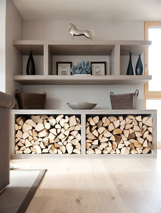 les 25 meilleures id es de la cat gorie stockage de bois de chauffage int rieur sur pinterest. Black Bedroom Furniture Sets. Home Design Ideas