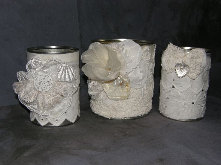 Covered cans as a xmas present - white