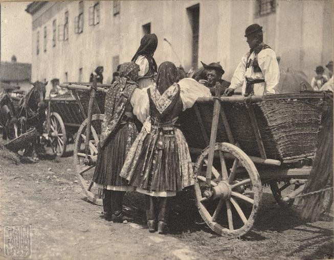 For fair at Velehrad, 1907, Czech Republic