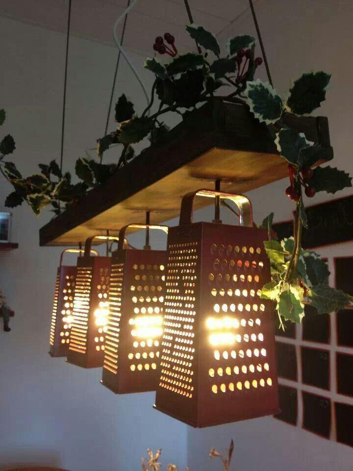 40 diy lamps and lights you can make yourself articulos for Accesorios decorativos para cocina