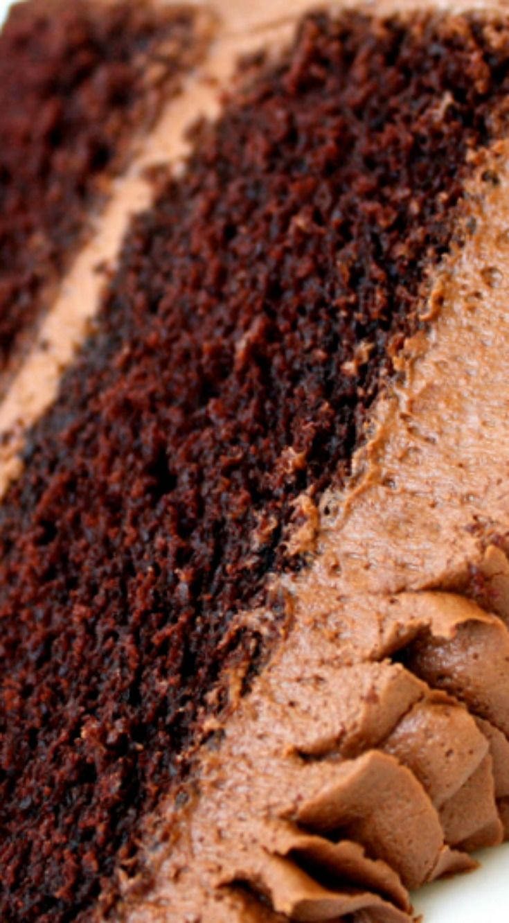 Classic Chocolate Cake Scratch Recipe ~ It is deliciously rich, moist, and absolutely delicious!