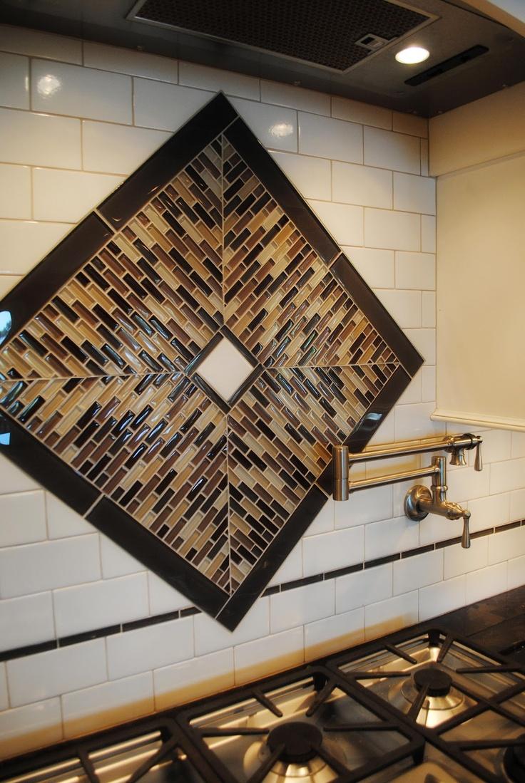 93 best kitchen backsplash images on pinterest kitchen kitchen trends this gorgeous tile backsplash mixes glass tile and subway tile in an interesting design