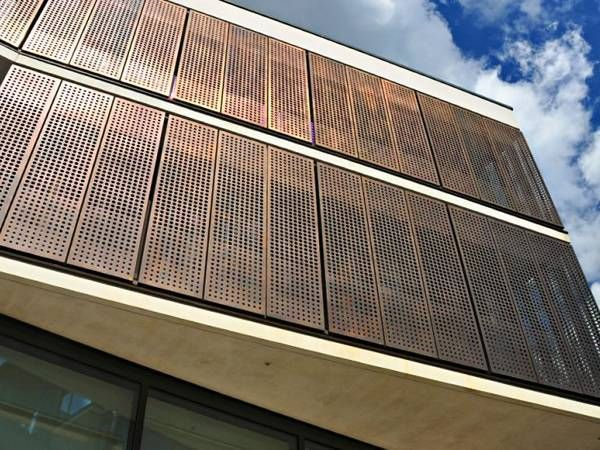 Perforated Copper Sheet Perforated Metal Building Cladding Metal Cladding