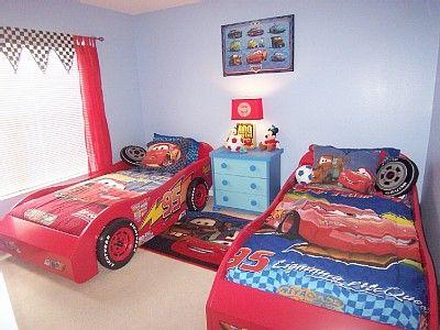 Disny World: Disney Cars Bedroom Wallpaper