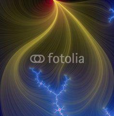 Golden fractal shapes and universe