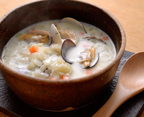 コクうまクラムチャウダー|牛乳を使ったレシピ|明治おいしい牛乳 おいしい暮らし~Natural Taste~|株式会社 明治