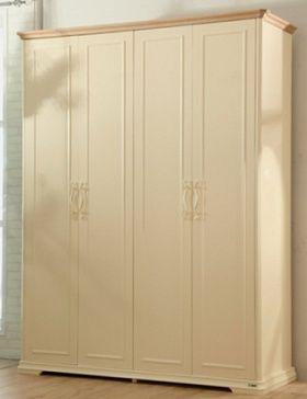 Шкаф для хранения одежды 5-дверный с внутренними полками, выдвижными ящиками, штангой для вешалок