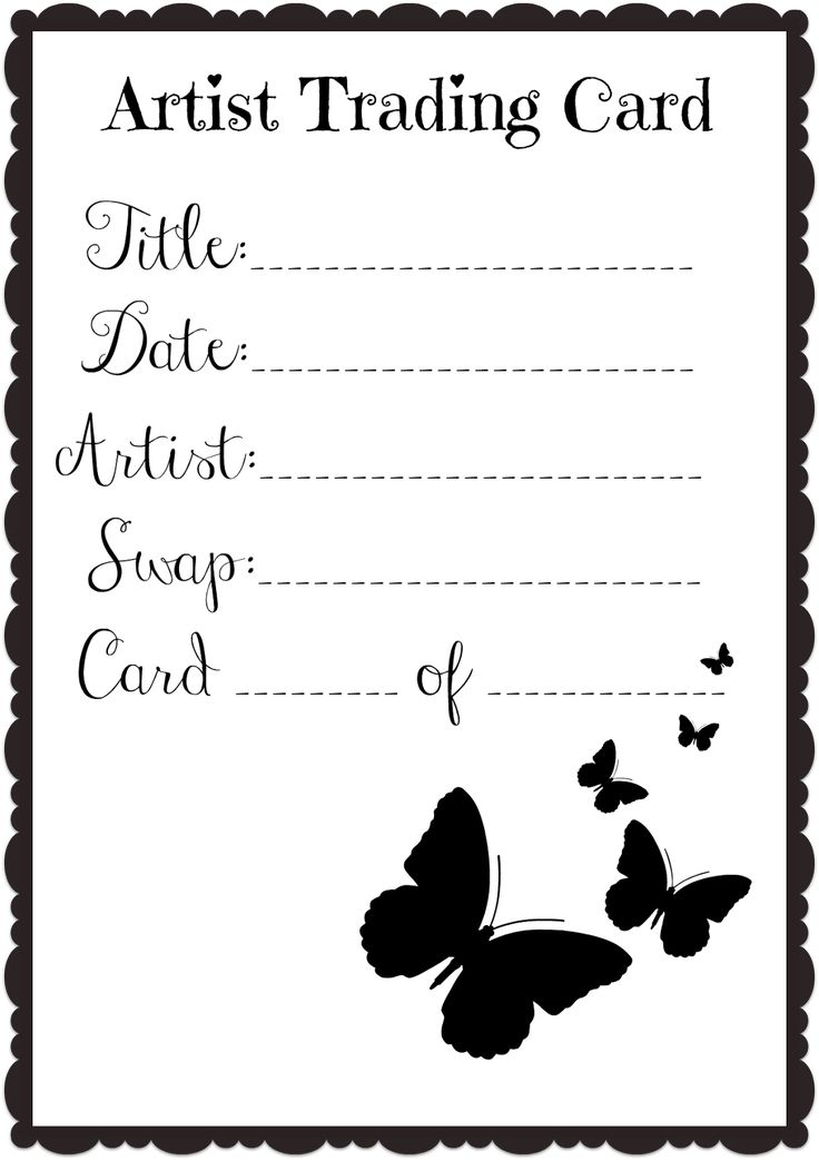 9 best ATC Back Designs images on Pinterest Artist trading cards - trading card template