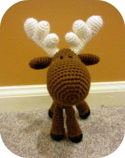croceted animals | Moose Amigurumi Crochet Stuffed Animal | Kawaii Crochet