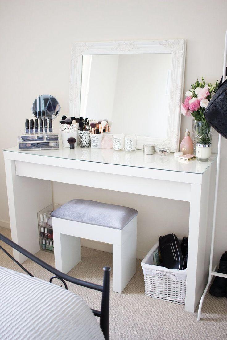 647 best beauty: schminktisch und make-up aufbewahrung images on, Schlafzimmer entwurf
