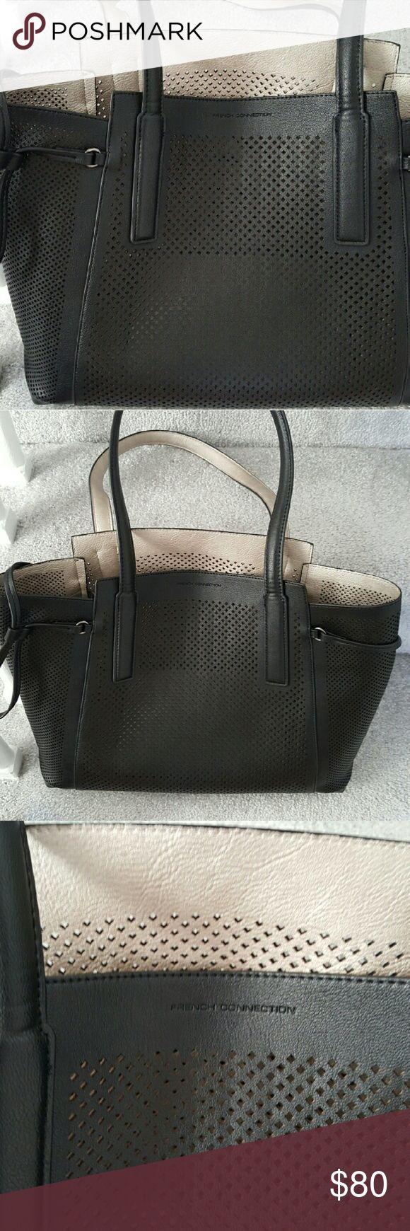 Selling this French Connection tote on Poshmark! My username is: deemattie. #shopmycloset #poshmark #fashion #shopping #style #forsale #French Connection #Handbags