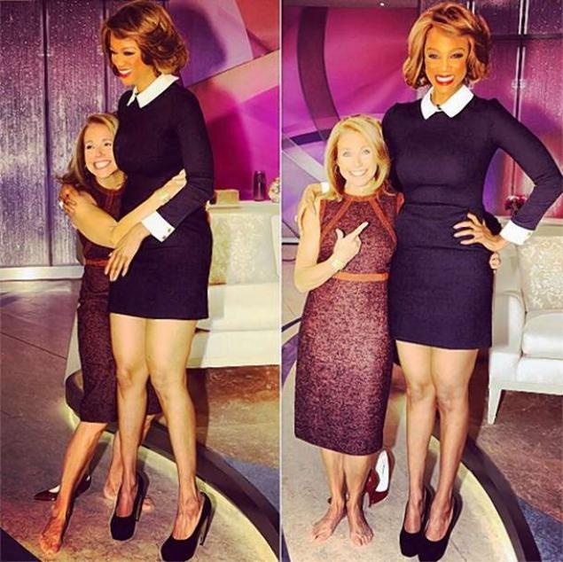 Katie Couric is short!!   Tyra Banks is tall!