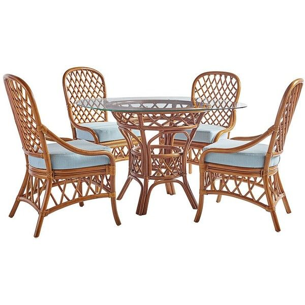 Beautiful Universal Lighting And Decor Antigua Natural Rattan 5 Piece Round...  ($1,830) ❤ Liked On Polyvore Featuring Home, Outdoors, Patio Furniture, Outdoor  Patio ...