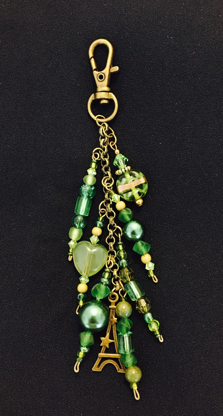 Green keychain made by me