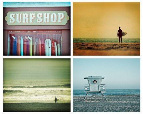 Surf Foto Set Strand Dekor SurfFotografie von NostalgiqueImages, $90.00