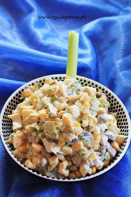 ♥ Witaj w moim kulinarnym świecie ♥: Rewelacyjna Pieczarkowa Sałatka z Jajem i Ogórkiem.