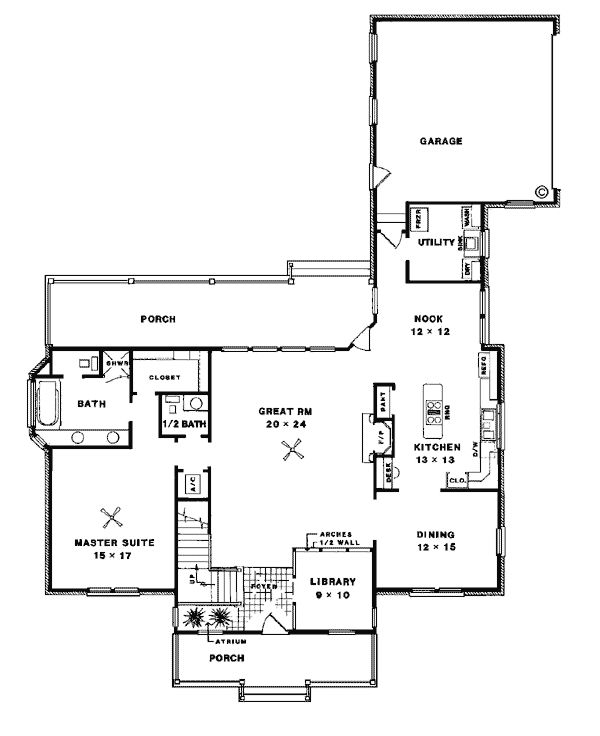 Cape Cod Country House Plan 96515