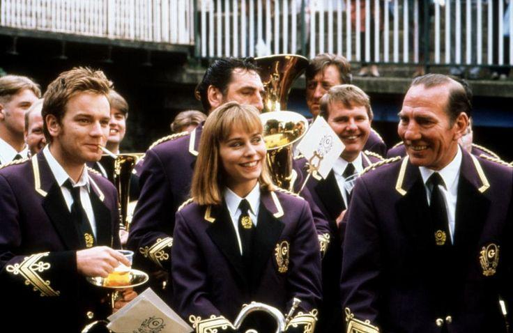 BRASSED OFF, Ewan McGregor, Tara Fitzgerald, Pete Postlethwaite, 1996   Essential Film Stars, Ewan McGregor http://gay-themed-films.com/film-stars-ewan-mcgregor/