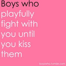 play fighting leads to kissing