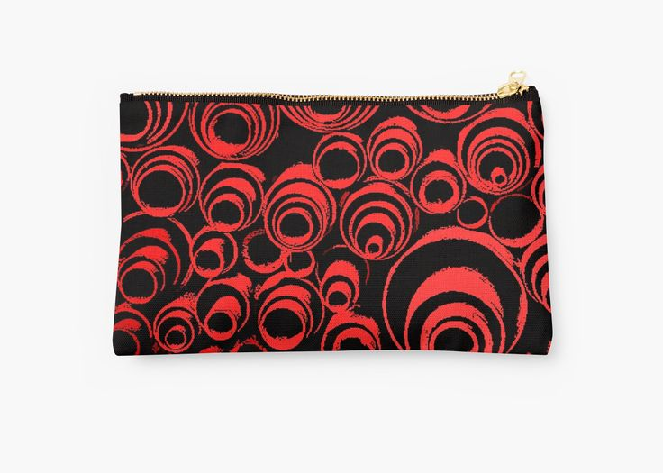 20% off Tote Bags, Studio Pouches, & Drawstring Bags. Cool beans. Use COFFEE20 at checkout. Red spiral, abstraction, visual, optical illusion, vertical by cool-shirts #pouch #style #accessories #trending #design