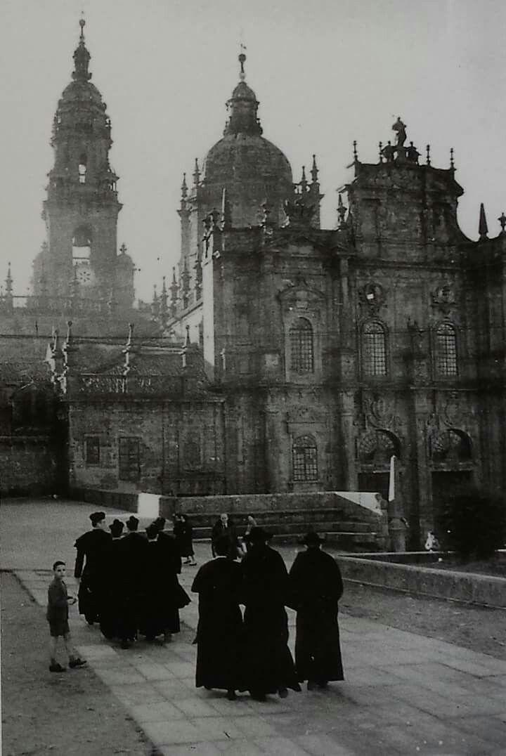 Rúa da Acibechería. Compostela. 1958  Eduardo Blanco Amor
